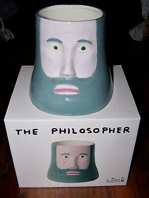 The Philosopher Porcelain Planter Collectable David Shrigley Art