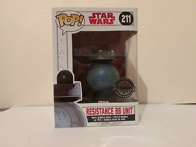 Resistance BB Unit #211 Vinyl Figure Bundled with Pop BOX PROTECTOR CASE Star Wars: The Last Jedi Funko Pop