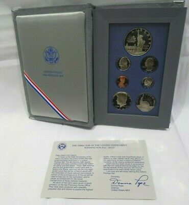 1986-S Proof PRESTIGE SET 7 Coin w/Box and Certificate