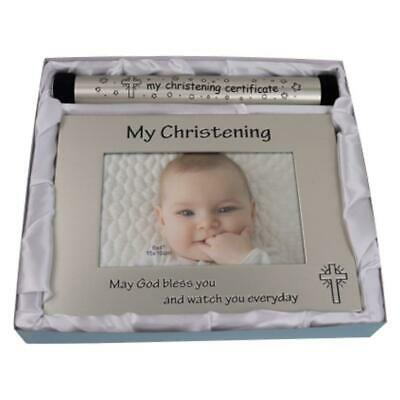 Christening Birth Certificate Holder Keepsake Gift Set Newborn Baby Shower