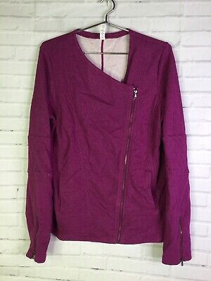 Under Armour UA Womens Size L Studio Uptown French Terry Fitted Moto Zip Jacket