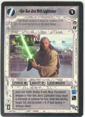 Star Wars CCG Theed Palace Darth Maul with Lightsaber M//NM