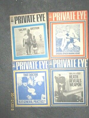 4 x Private Eye Magazine from 1971