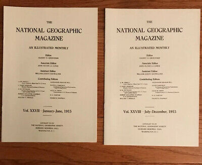 National Geographic Magazine Indexes From 1915-1919 Complete VGC **Rare**