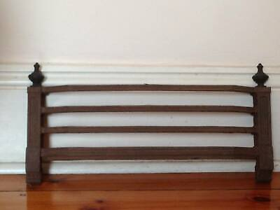Antiques Cast Iron Fireplace Front Guard Fender 490mmx260mm