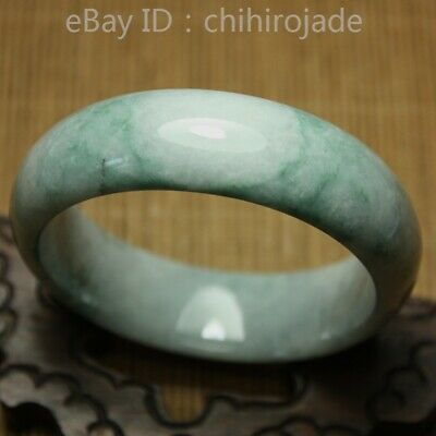 58mm Certified (Grade A) 100% Natural Green Jadeite JADE Bracelet Bangle 8613
