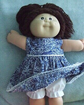 """16"""" CABBAGE PATCH Dolls Clothes / DRESS & BLOOMERS / navy & white"""