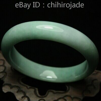 63mm Certified (Grade A) 100% Natural Green Jadeite JADE Bracelet Bangle AA2