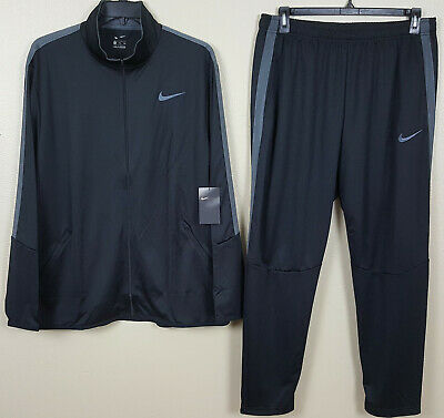 Nike Dri-Fit Basketball Track Suit Jacket + Pants Black Grey Rare New (Size 2Xl)
