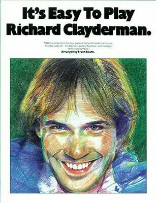 IT'S EASY TO PLAY RICHARD CLAYDERMAN  arranged by FRANK BOOTH   BRAND NEW