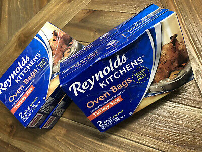 4 Box Reynolds Kitchens Oven Bags (8 bags total) Turkey Size New
