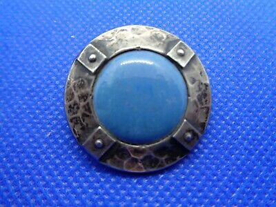 Antique Victorian Arts & Crafts Liberty's Plantagenet Ruskin Cabochon Brooch
