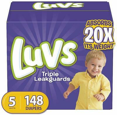 Diapers Size 5.148 Count - Luvs Triple Leakguards Disposable Baby Diapers One