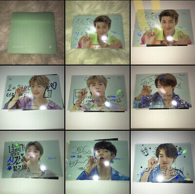BTS Official 2020 Season's Greetings Message Card Set Card + transparent Cover