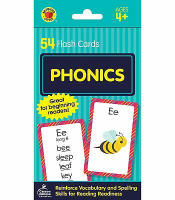 Flash Cards Phonics Brighter Child Learning Educational Book Babies Toddler Kids