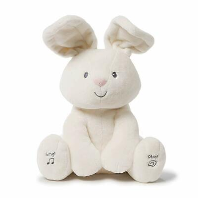 The Bunny Flappy Ear Peek-a-Boo Animated Talking &Singing Plush Toy Baby Gift
