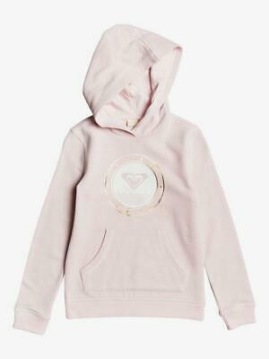 ROXY - Girls Hoodie - Pink - Gold Roxy Circle Logo - Surf - Ages 4-14