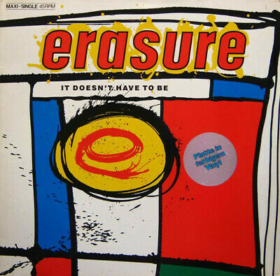 """Erasure - It Doesn't Have To Be (12"""", Maxi, Blu)"""