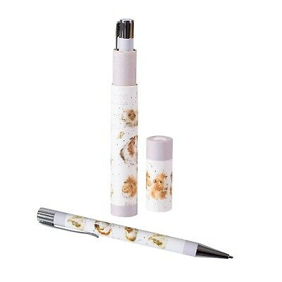 Wrendale Designs Guinea Pig Pen - Beautiful Illustrated Pen and Gift Box Tube