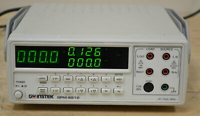 GW Instek GPM-8212 Benchtop AC Power Meter/Analyzer, True RMS GOOD Qty Available