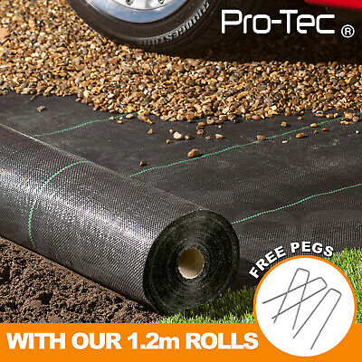 1,2,3,4m,wide 100gsm Weed Control Fabric Ground Cover Membrane Garden Landscape