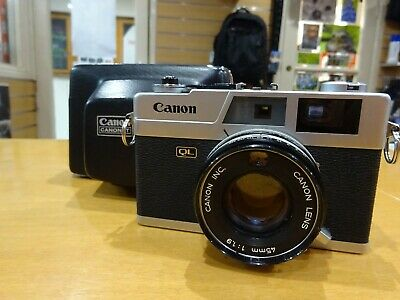 CANON CANONET QL19 RangeFinder Camera With Canon 45mm f1.9 Lens