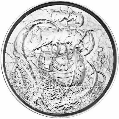 2 oz Round Elemetal The Kraken Ultra High Relief Silver (Privateer Series #4)