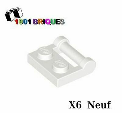 Blanc // White NEUF modified 1x2 with Arm up Lego 88072-5x Plaque // Plate