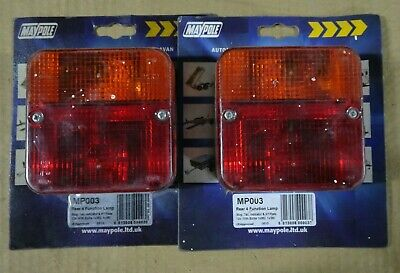 2 x Maypole Rear 4 Function Lamp Trailer Lights MP003