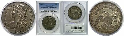 1834 50C Capped Bust Half Dollar Large Date/Letters Silver PCGS XF-45