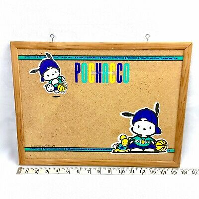1996 Sanrio Pochacco Basketball Dog Cork Bulletin Board Sign Organizing Reminder