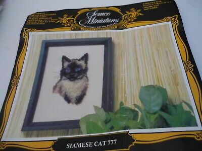""" Siamese Cat"" - Crewel Embroidery Kit"