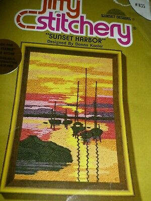"2 X ""Sunset Harbour"" & ""Tall Ships At Sunset"" -   Embroidery Kit"