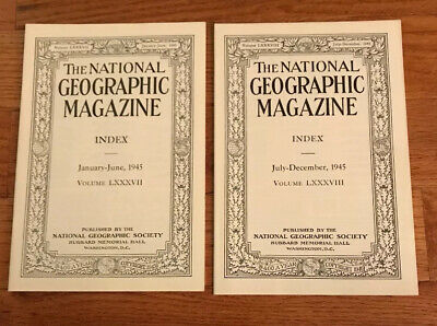 National Geographic Magazine Indexes From 1945-1949 Complete VGC **Rare**