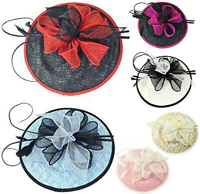 Gauze Hat Clip Flower Headband Aliceband Fascinator Wedding Day Race Royal Ascot
