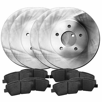 For Land Rover Range Rover Evoque Front Rear  Blank Brake Rotors+Ceramic Pads