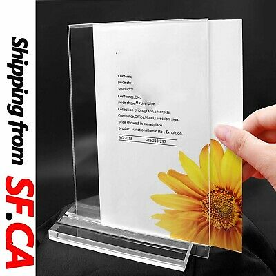 """Clear Acrylic Bottom Load Sign Display Holder Table Top Picture Frame,4""""x6""""(W*H)"""