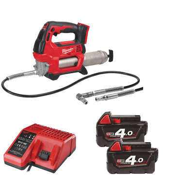 Milwaukee M18GG-402B 18v Grease Gun Kit With 2 4.0Ah Batteries, Charger and Bag