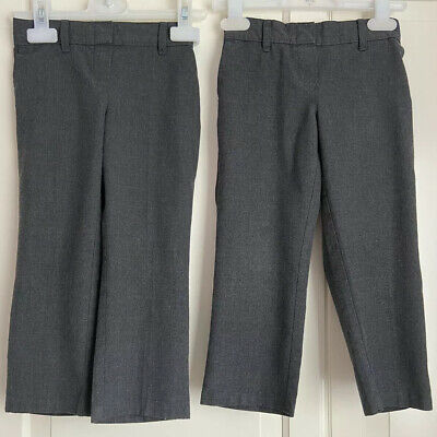 2 Pairs Of M&S Girls Grey School Trousers Size 2-3 Years