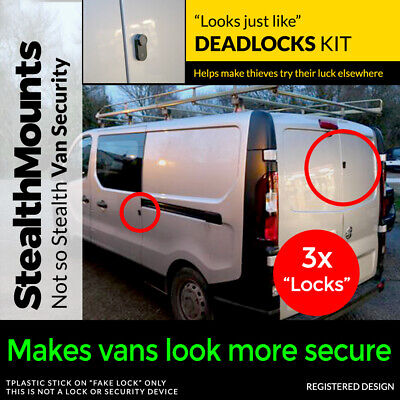 3x Fake Van Dead Locks Kit by StealthMounts - Lock Security DeadLock Alarm Dummy