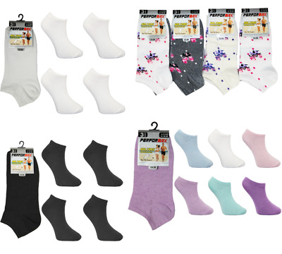 New Up to12 Pairs Women's Floral Pastel Summer Cotton Trainer Liner Ankle Socks