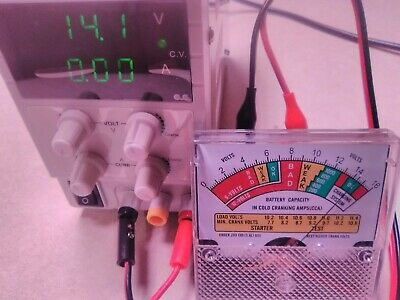 3 Analog Panel Voltage Meter Voltmeter Gauge Removed From New Battery Tester.