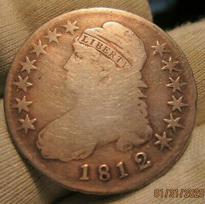 1812 Over 1 Capped Bust Half Dollar