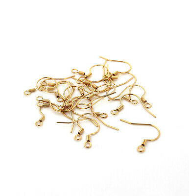 Gold Stainless Steel Earrings - French Hooks - 18mm x 20mm - 10 Pieces - FD710