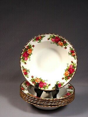 Royal Albert Old Country Roses Rimmed Soup Bowl Plate England FIRST EDITION