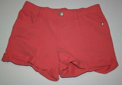 USED Gymboree 10 year Girls Coral Pink Soft Shorts Summer Pockets Cuffed