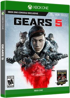 NEW SEALED Gears of War 5 + Terminator Character Pack - Xbox One FREE SHIPPING