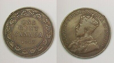 1917 Canadian Large Cent  Very Good - Fine VG - F