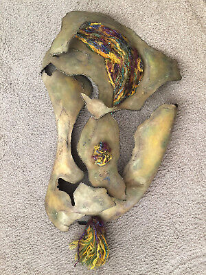 Rochelle Ford Metal Fiber Sculpture Vintage Mid Century California Kinetic