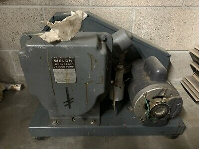 Welch Duo Seal Two Stage High Vacuum Pump Model 1397  ( Untested )